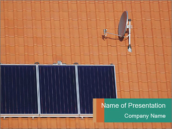 Satellite And Solar Panel PowerPoint Template
