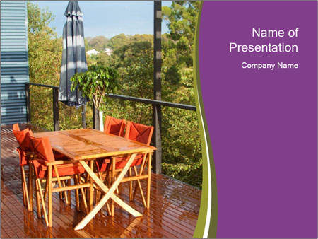 Table On Terrace PowerPoint Templates