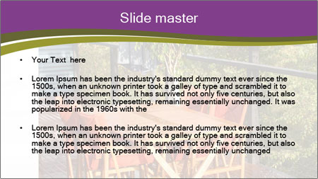 Table On Terrace PowerPoint Template - Slide 2