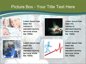 A doctor holding a baby PowerPoint Template - Slide 14
