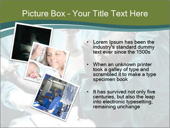 A doctor holding a baby PowerPoint Template - Slide 17
