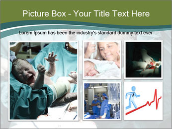 A doctor holding a baby PowerPoint Template - Slide 19