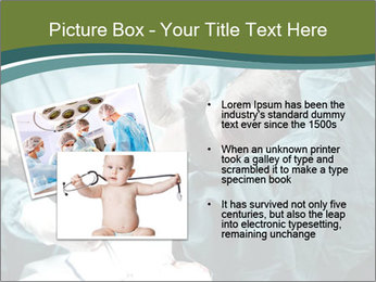 A doctor holding a baby PowerPoint Template - Slide 20