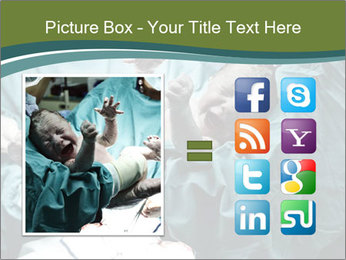 A doctor holding a baby PowerPoint Template - Slide 21