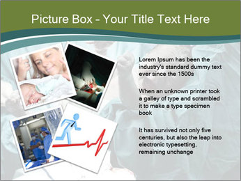 A doctor holding a baby PowerPoint Template - Slide 23