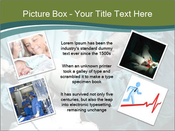 A doctor holding a baby PowerPoint Template - Slide 24