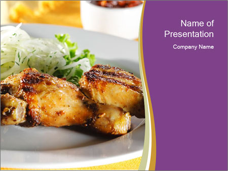 Grilled Chicken Legs PowerPoint Template