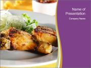 Grilled Chicken Legs PowerPoint Templates