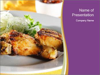 Grilled Chicken Legs PowerPoint Template - Slide 1