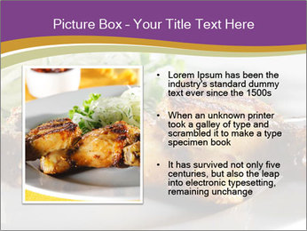 Grilled Chicken Legs PowerPoint Template - Slide 13