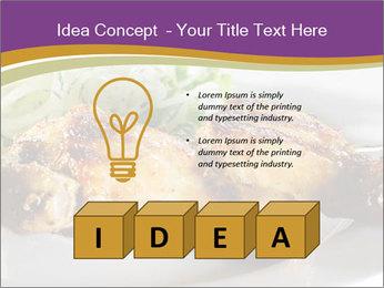 Grilled Chicken Legs PowerPoint Template - Slide 80