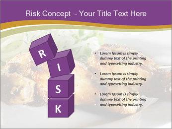 Grilled Chicken Legs PowerPoint Template - Slide 81
