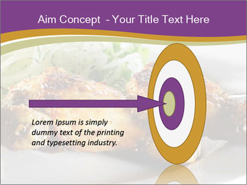 Grilled Chicken Legs PowerPoint Template - Slide 83