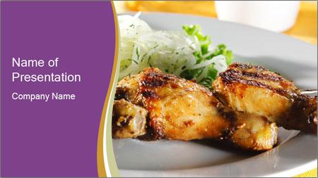 Grilled Chicken Legs PowerPoint Template