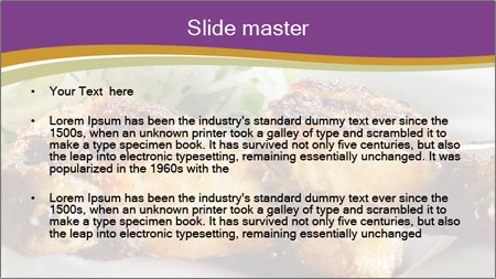 Grilled Chicken Legs PowerPoint Template - Slide 2