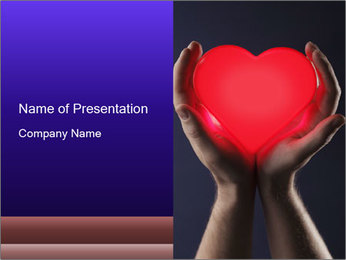 Man holding PowerPoint Template - Slide 1
