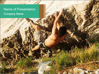 Climber PowerPoint Template - Slide 1