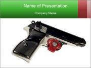 Red trigger lock PowerPoint Template