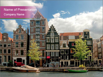 Amsterdam canals PowerPoint Template - Slide 1