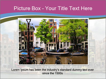 Amsterdam canals PowerPoint Template - Slide 16