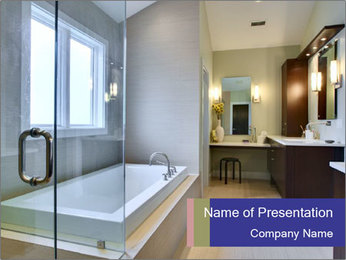 Luxury Master Bath PowerPoint Templates - Slide 1