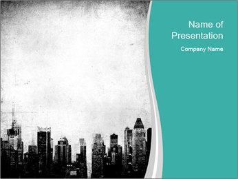 New york skyline PowerPoint Templates - Slide 1