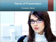 Working at the office PowerPoint Template