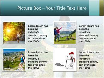 Girl tourist PowerPoint Template - Slide 14