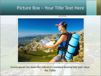 Girl tourist PowerPoint Template - Slide 15
