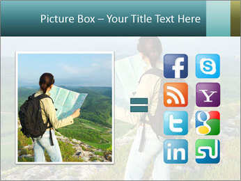 Girl tourist PowerPoint Template - Slide 21