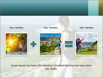 Girl tourist PowerPoint Template - Slide 22