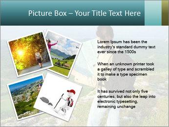 Girl tourist PowerPoint Template - Slide 23