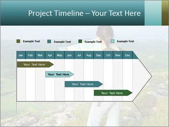 Girl tourist PowerPoint Template - Slide 25