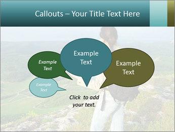 Girl tourist PowerPoint Template - Slide 73