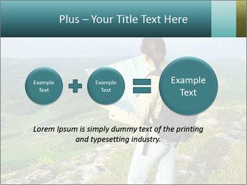 Girl tourist PowerPoint Template - Slide 75