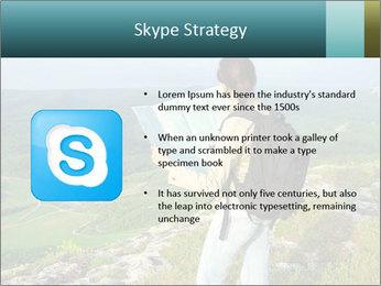 Girl tourist PowerPoint Template - Slide 8
