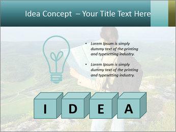 Girl tourist PowerPoint Template - Slide 80