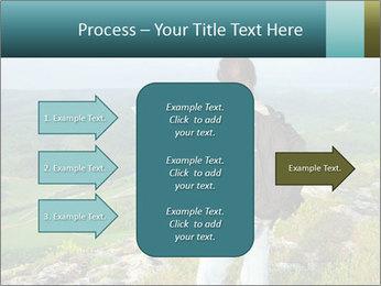 Girl tourist PowerPoint Template - Slide 85