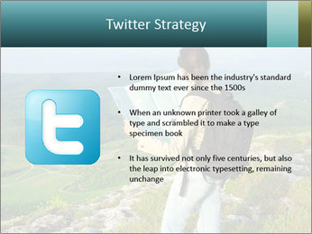 Girl tourist PowerPoint Template - Slide 9