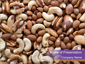 Nuts PowerPoint Template - Slide 1
