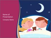 Boy and girl sleeping PowerPoint Templates