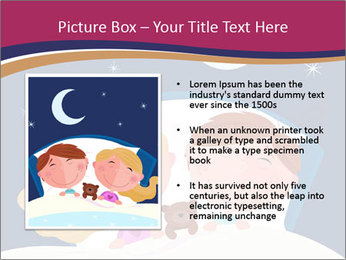 Boy and girl sleeping PowerPoint Template - Slide 13