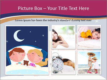 Boy and girl sleeping PowerPoint Templates - Slide 19