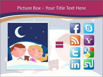 Boy and girl sleeping PowerPoint Template - Slide 21