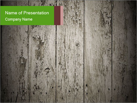 Wooden planks PowerPoint Template
