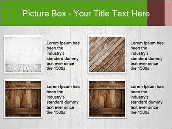 Wooden planks PowerPoint Template - Slide 14