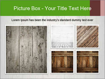 Wooden planks PowerPoint Template - Slide 19