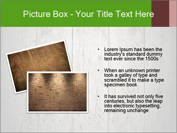 Wooden planks PowerPoint Template - Slide 20
