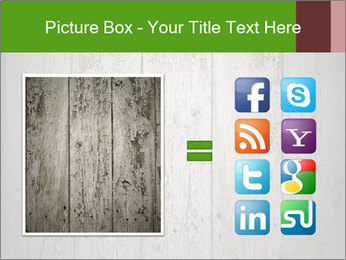 Wooden planks PowerPoint Template - Slide 21