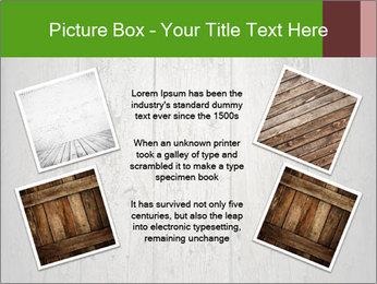 Wooden planks PowerPoint Template - Slide 24